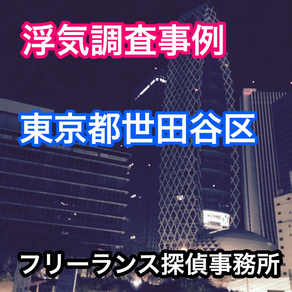 浮気調査事例 東京都世田谷区